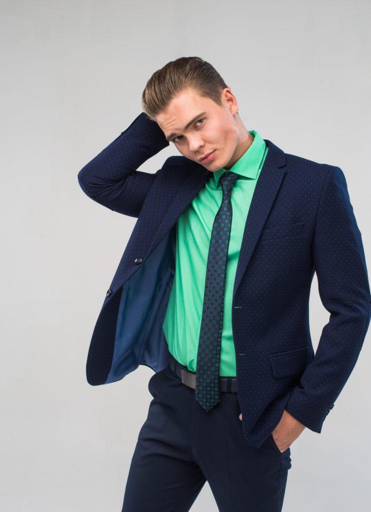 Пиджак мужской (синий)