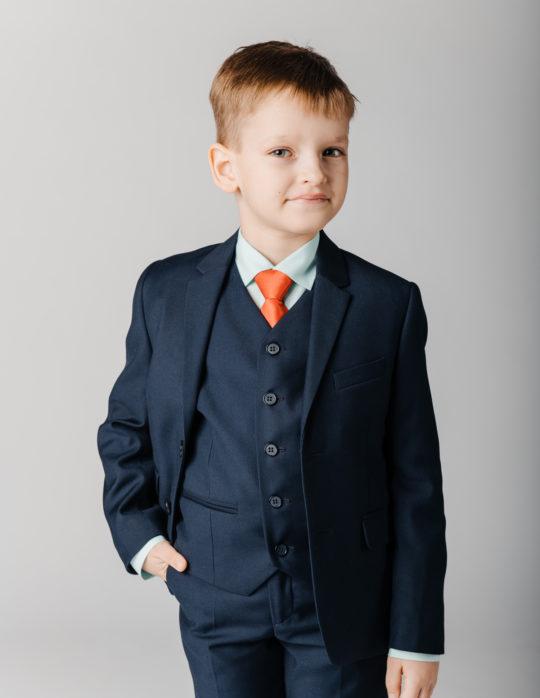 Пиджак для мальчика (синий колледж)