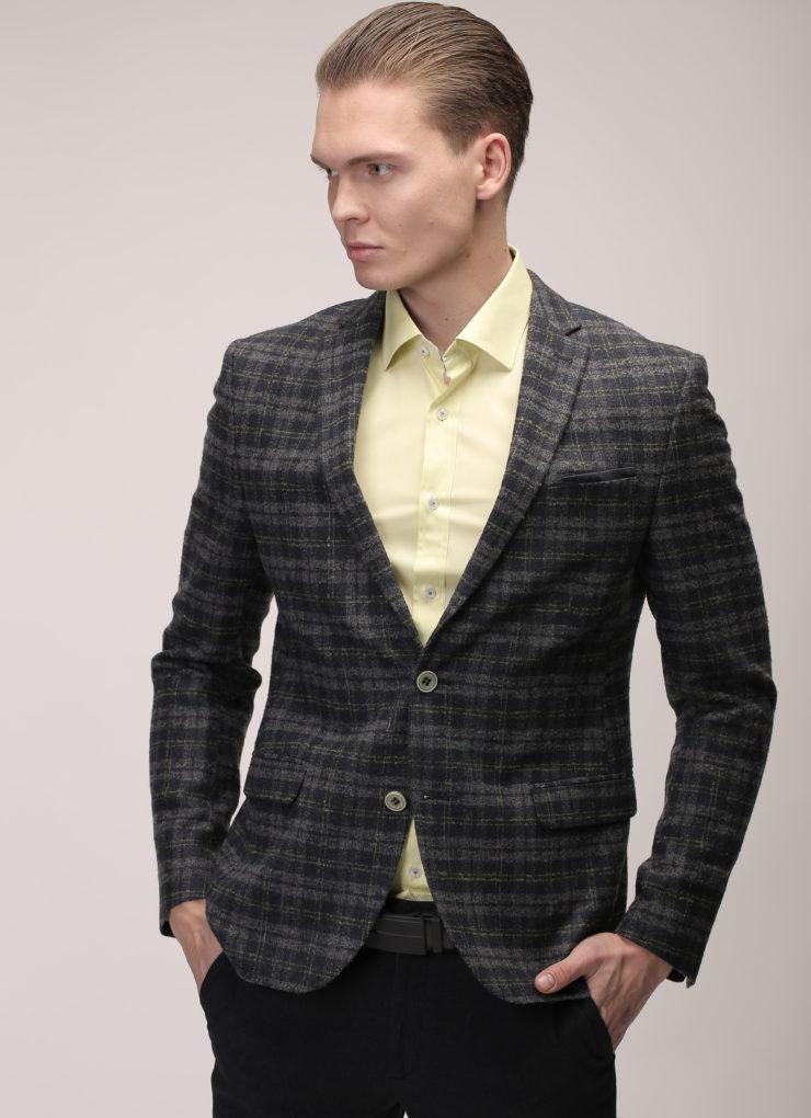 Пиджак Лежен (серый в клетку)