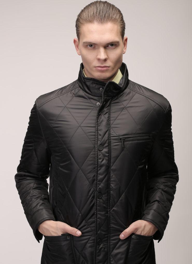 Куртка-плащ длинная (черная)
