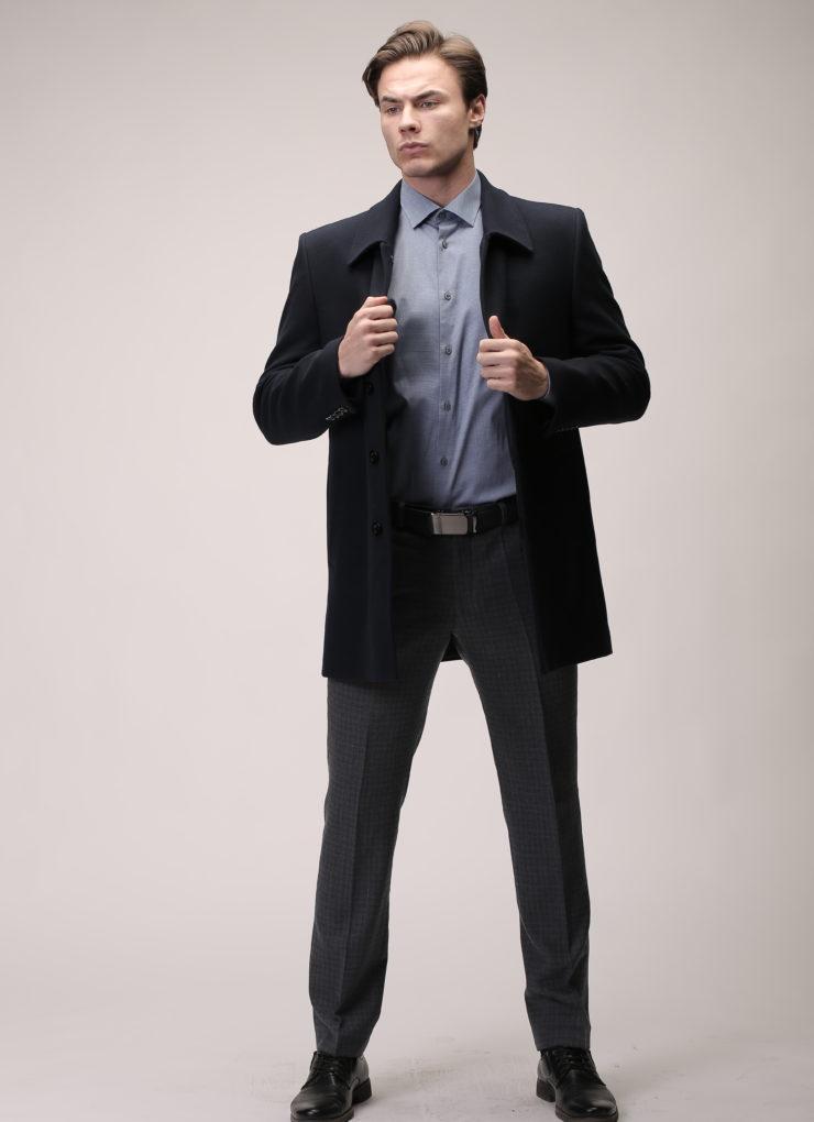 Пальто мужское классическое (черное)