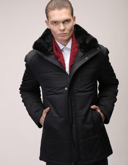 Куртка с мехом (черная)
