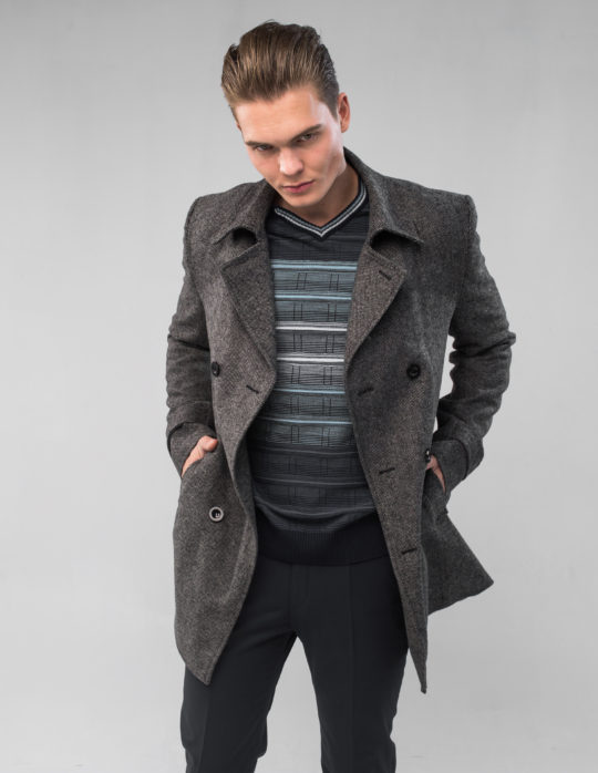 Пальто мужское (серое)