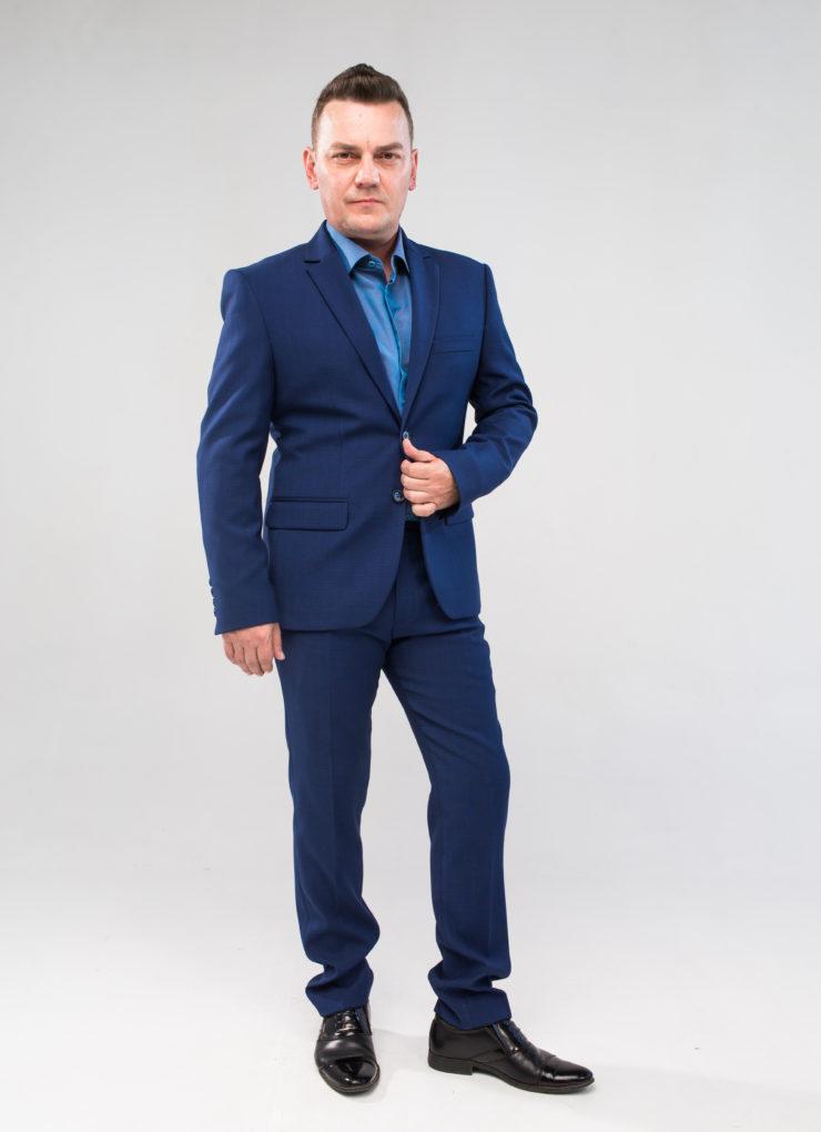 Костюм мужской (ярко-синий)