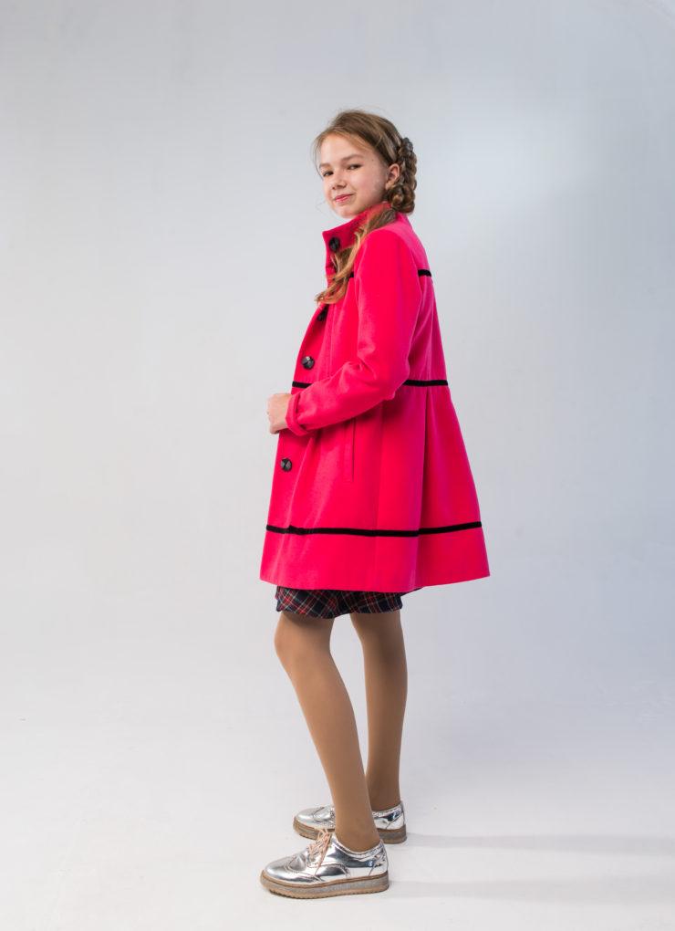 Пальто для девочки (розовое)