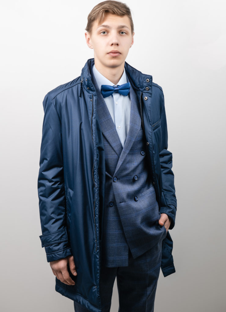 Куртка-плащ (синяя)