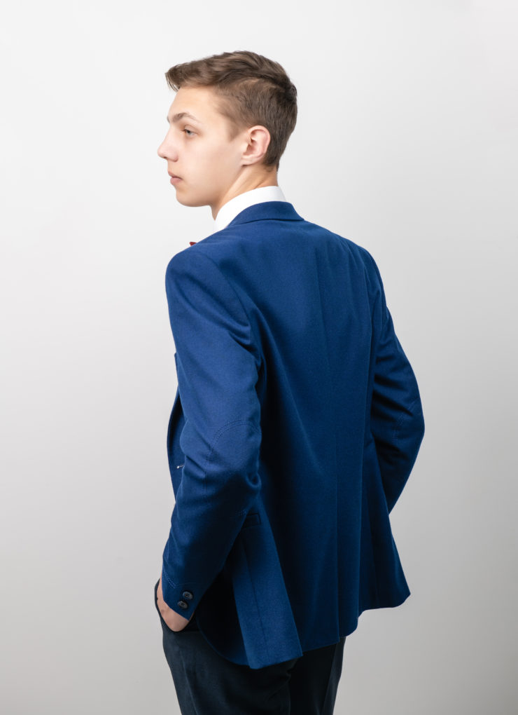 Пиджак мужской (васильковый)