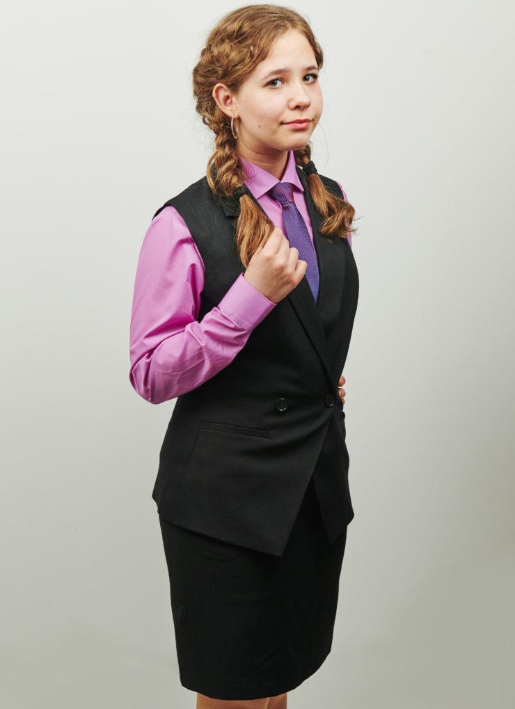 Жилет для девочки Ella (Деко-джинс)