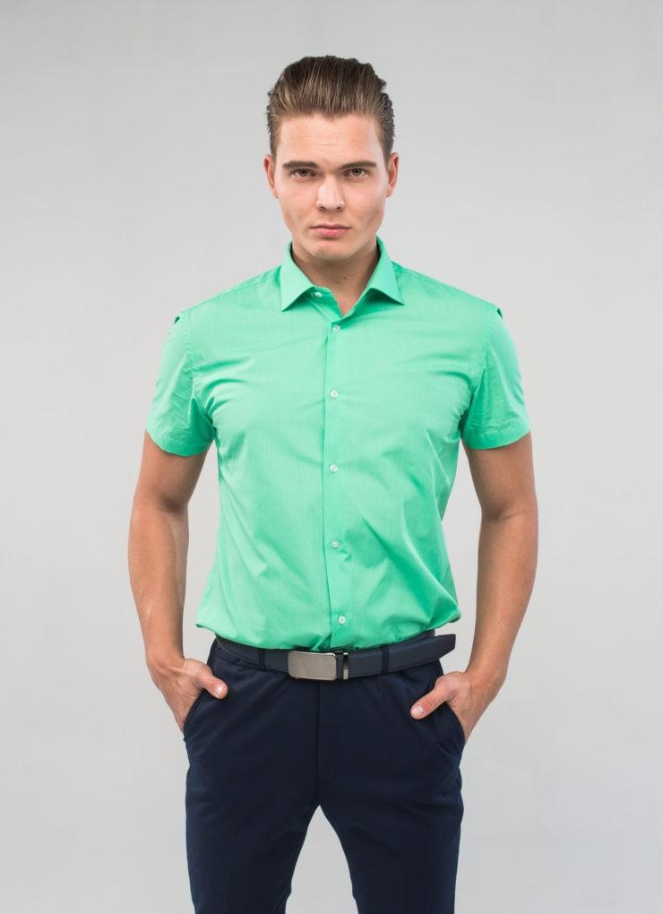 Сорочка мужская (мятная)