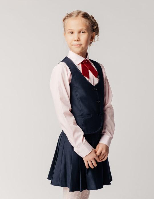 Жилет для девочки Bow (синий колледж)