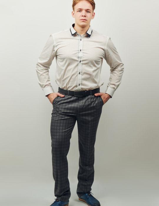 сорочка мужская с двойным воротником