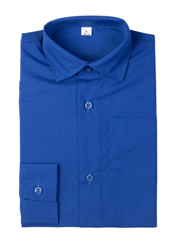 Сорочка мужская (ярко-синяя)