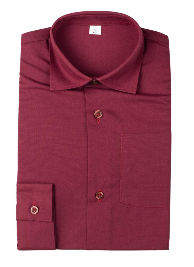 Сорочка мужская (бордовая)